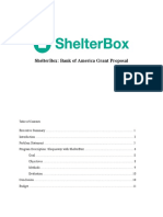 ShelterBox Grant Proposal