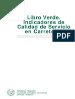 Libro Verde. Indicadores de Calidad de Servicio en Carreteras (2005)