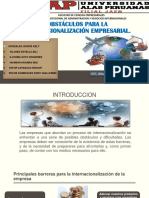 Obstáculos Para La Internacionalización de La Empresa