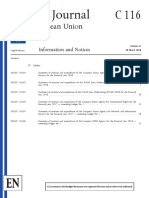 Official Journal of the European Union, C 116, 28 March 2018