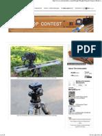 Light Weight Tripod Camera Slider for DSLR