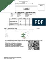 Diagnóstico Ciencias 3°