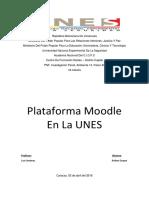 Plataforma Moodle en La Unes