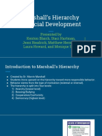 marshalls hierarchy of social development