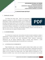 [RESENHA02] Construtivismo Em Piaget - Filosofia Da Educação