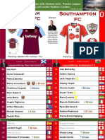 Premier League 180331 round 32 West Ham - Southampton 3-0
