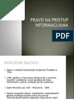 Pravo Na Pristup Informacijama