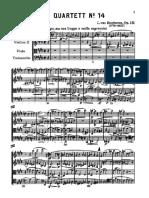 OP 131 Beethoven Cuarteto Para Cuerdas N 14 en Do Sostenido Menor