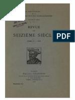 Revue du Seizième siècle - T. 4, Fasc. 3-4, 1916.pdf