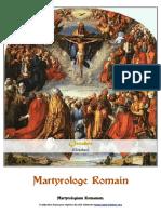 Martyrologe 1961 - Octobre - Latin-Français