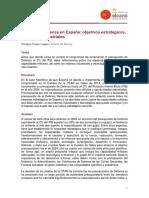 ARI44 2017 FojonLagoa Gasto Defensa Espana Objetivos Estrategicos Militares Industriales