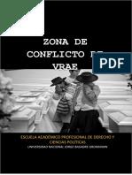 Zona de Conflicto Vrae- Monografía