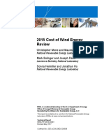 NREL, Cost of Wind Energy 2015