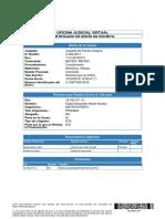 Certificado Envío Escrito Solicitud Retención