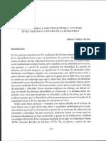Discurso Nawal e identidad etnica tz'utujil en el Santiago Atitlán de la posguerra