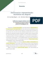Resenha - Democracia e Representação - Territórios Em Disputa