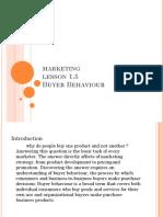 Marketin Buyer Behavior