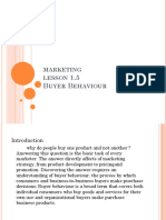 Marketin Buyer Behavior