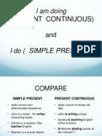 Simple Present Tense Versus Present Continuous