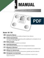 Manual BC-730 PINK 522