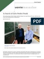 Gunter Ziegler and Martin Aigner Seek Gods Perfect Math Proofs 20180319