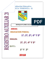 Registro de Asistencia 2018 Santa Teresita