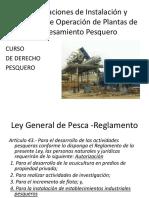 DERECHO PESQUERO -Régimen Legal -Procesamiento Pesquero