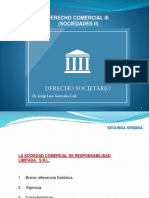 Derecho Comercial III (Sociedades II) - Derecho Comercial III (Sociedades II) - 2 Semana