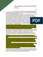 La Empresa y Las Responsabilidades en La Preparacion y Presentacion de Su Informacion Financiera