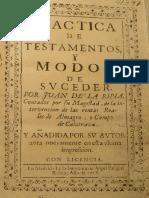 Practica de Testamentos, Juan de La Ripia