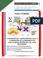 Lineamientos y Orientaciones Para La Elaboración de La Programación Curricular de Matemática Del Nivel Secundaria