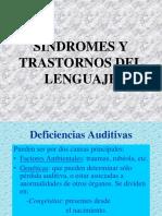 Sindromes y Trastornos Del Habla