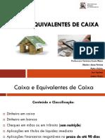 1.Slide Caixa e Eq. de Caixa - 2016.1 (1)