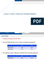 L3 - Option Trading and Arbitrage Relations