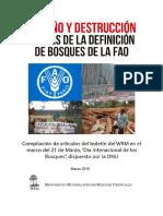 Engaño y Destrucción Detrás de La Definición de Bosque de La FAO