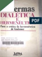HABERMAS - Dialética E Hermenêutica