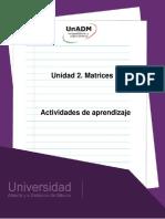Unidad 2. Actividades de Aprendizaje