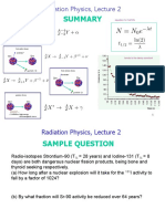 Radiation Physics Lecture Notes