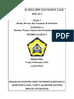 Kelas 1 Tema 7 Sub 4 Pb 1