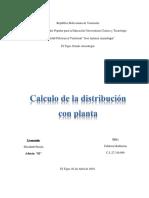Calculo de La Distribucion Con Planta