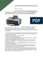 Cara Memperbaiki Printer Canon Pixma MX318