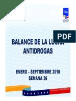 Venezuela Balance de La Lucha Antidrogas Enero- 13sep2010