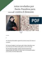 25 Secretos Revelados Por Jesús a Santa Faustina Para Luchar Contra El Demonio
