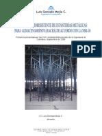 Análisis Sismoresistente de Estanterías Metálicas Para Almacenamiento (Racks) de Acuerdo Con La Nsr-10