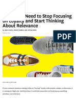 marketers need to stop focusing on loyalty and start thinking about relevance