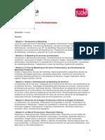 Cursos Admin Marketing Servicios Profesionales