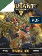 Mutant Chronicles - Universal Index - Printer Friendly