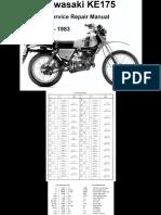 Manual de Taller Kawasaki KE 175