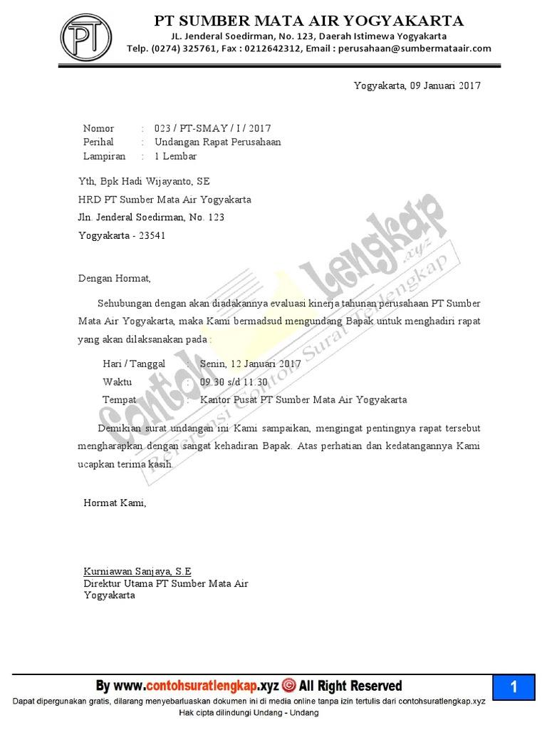 343040164 contoh surat undangan rapat perusahaanpdf stopboris Gallery