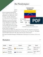 Venezuela at the Paralympics